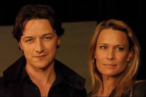 James McAvoy (left) and Robin Wright